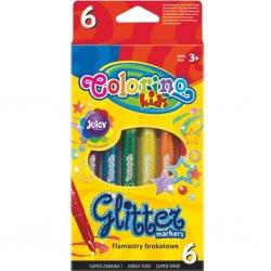 Colorino CREATIVE blizgūs flomasteriai spalvos 65641PTR