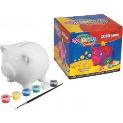Kiaulė taupyklė Colorino CREATIVE monetų taupyklė Kiaulė spalvinama 15714PTR