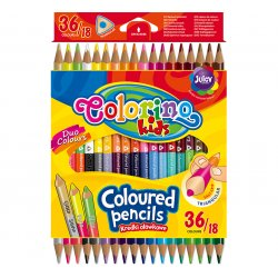 Colorino CREATIVE Triangular coloured pencils pcs36 colours 68512PTR