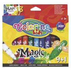 Colorino KIDS flomasteriai keičiantys spalvas 9+1 spalvos 34630PTR