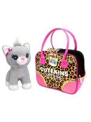 Pliušinis žaislas Katytė su nešiojimo krepšiu