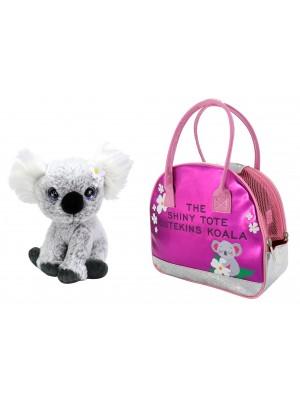 Pliušinis žaislas Koala su nešiojimo krepšiu