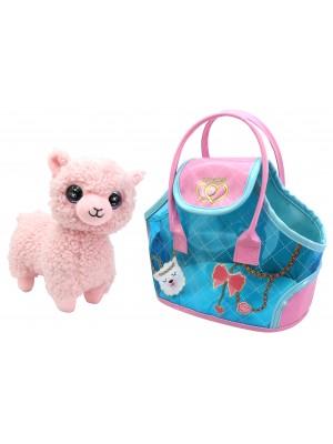 Pliušinis žaislas Lama su nešiojimo krepšiu