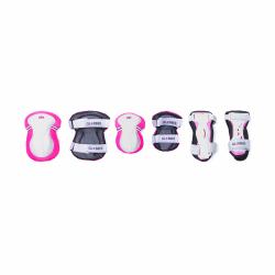 Rinkinys kelių ir alkūnių apsaugų rožinis Junior XS RANGE B ( 25-50KG ) 541-110
