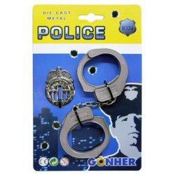 Gonher antrankiai ir policininko ženklelis