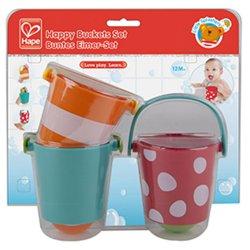 Vonios žaislų rinkinys Linksmieji kibirėliai E0205