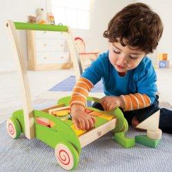 Žaislinis vežimėlis su kaladėlėmis E0371