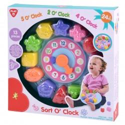 Infant&toddler laikrodukas-rūšiuoklis rinkinyje detalių