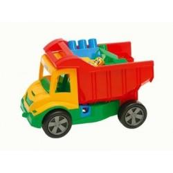 Sunkvežimis su kaladėlėmis 38x27x20cm