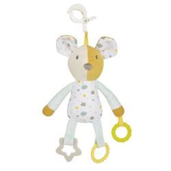 Babies minkštas žaislas kūdikiams su kramtuku MOUSE