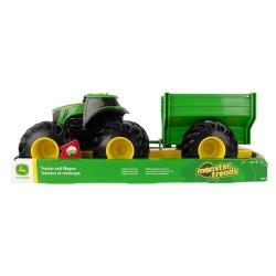 John DEERE žaislinis traktorius su priekaba