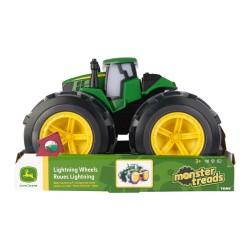 John DEERE žaislinis traktorius su šviečiančiais ratais