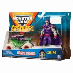 Monster JAM transporto priemonė 1:64 Die Cast su figūrėle asort.