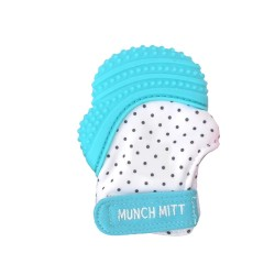 Munch BABY kramtukas Aqua Blue Polka Dots MM04A