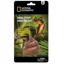 National GEOGRAPHIC rinkinys Carded Mini Dig Dino Poop NGMDIGPOOP