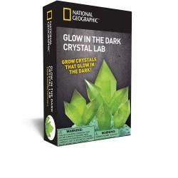National GEOGRAPHIC rinkinys Glow In Dark Crystal Green NGGIDCRYSTAL
