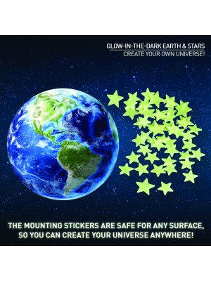 National GEOGRAPHIC rinkinys Glow in the Dark 3D Earth and Stars NGEARTHSTAR2