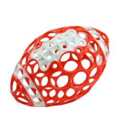 Futbolo kamuolys raudonasbaltas