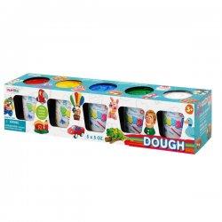 Playgo Dough plastilinas pagr. spalvos