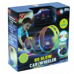 Playgo šviečianti kilpa su mašinėle GO GLOW CAR WHEELER dalių