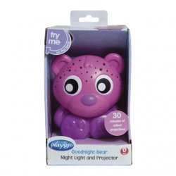 Naktinė lemputė-projektorius Meškiukas(rožinis)
