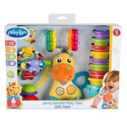 Žaislas žirafa Jerry dovanų pakuotė