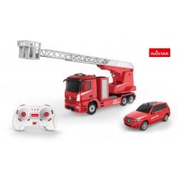 Automodelis valdomas Mercedes-Benz Antos Fire Engine & Rescue in 2.4G