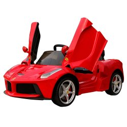 Elektromobilis Ferrari LA Ferrari raudonas