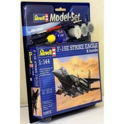 Sudedamas modelis F-15E STRIKE EAGLE & bombs