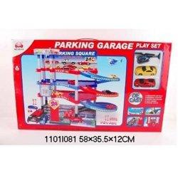 Rinkinys automobilių stovėjimo aikštelė su mašinomis 1101I081