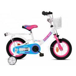 Road HERO baltas rožinis dviratis mergaitei 12