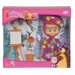 Simba MASHA AND THE BEAR lėlė su dailininko aksesuarais