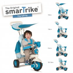 Smart TRIKE triratukas mėlynas Splash