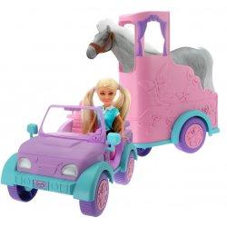 Sparkle GIRLZ rinkinys žirgo priekaba su žirgu ir lėle