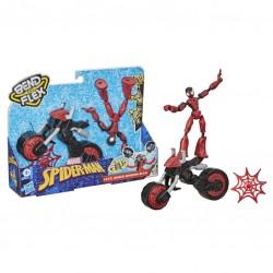 Spiderman figūrėlė su motociklu Bend and Flex F02365L0
