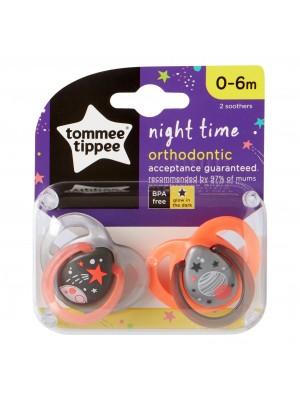 Tommee TIPPEE čiulptukas Night 0-6m 2vnt.