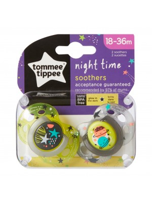 Tommee TIPPEE čiulptukas Night 18-36m 2vnt.