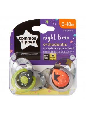 Tommee TIPPEE čiulptukas Night 6-18m 2vnt.