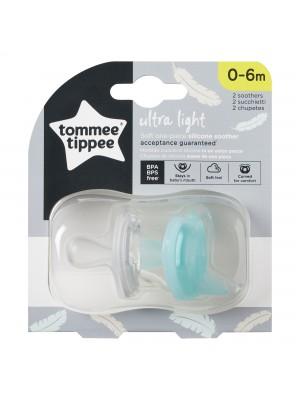 Tommee TIPPEE silikoniniai čiulptukai Ultra Light 0-6m 2vnt.