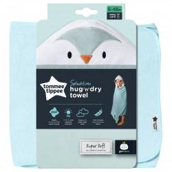 Tommee TIPPEE vonios rankšluostis su gobtuvu mėlynas 6-48m CBA1017