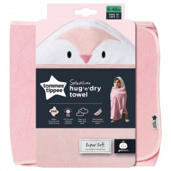Tommee TIPPEE vonios rankšluostis su gobtuvu rožinis 6-48m CBA1016