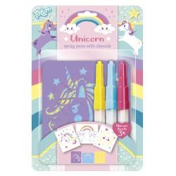 Piešimo kūrybinis rinkinys Unicorn Spray Pens
