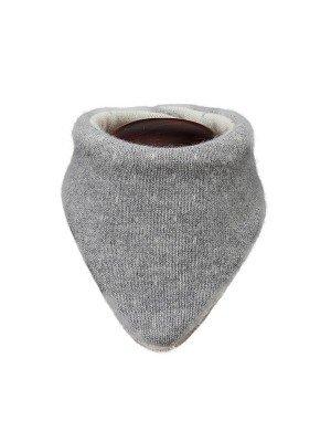 "Merino vilnos kaklaskarė-šalikėlis ""Lenny"", pilkas"