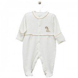 """Kombinezonas kūdikiui """"Mini zoo"""" baltas"""